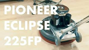 Clarke Floor Buffer Pads by Demoing The Pioneer Eclipse 225fp Buffer Floor Polisher City