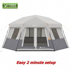 100 Ozark Trail Dome Truck Tent Details About Instant Gray 8Person Cabin Weatherproof