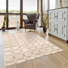 luxus wohnzimmerteppich circle in grau beige m701