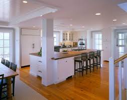 L Shaped Kitchen With Island Traditional White Trim Islands