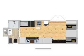 ein modell des tiny houses im wohnzimmer kuntergrün