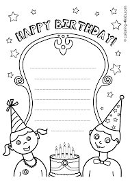 Happy Birthday Printables Coloring Pages