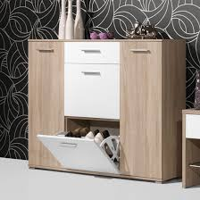 Simms White Modern Shoe Cabinet by Anna Wooden Shoe Cabinet In Oak And White Storage Pinterest