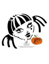 Wolf Pumpkin Carving Patterns Easy by Monster High Pumpkin Carving Patterns Woo Jr Kids Activities