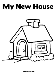 My New Home Coloring Pages For Kids