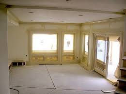 Using A Paint Sprayer For Ceilings by New Construction Painting A Room That Has Never Been Painted Before