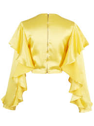ruffled plain long sleeve back zipper women u0027s blouse tbdress com
