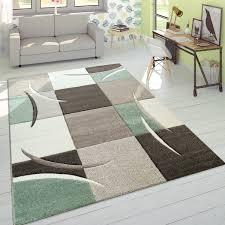 designer teppich modern konturenschnitt pastellfarben mit