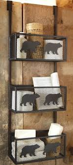 Rustic Bear Bathroom Door Shelf I Like This But Would Rather Have Kind