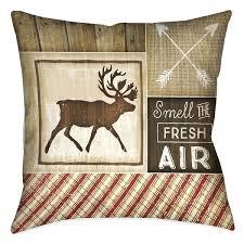 Rustic Throw Pillows Home Cabin I Decorative Inch Pillow Decor
