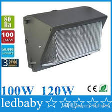 2018 outdoor led wall pack light 100w 120w industrial wall mount