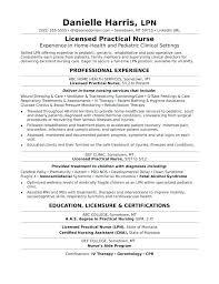 Lvn Resume Objective Licensed Practical Nurse Sample Monster Com Home H Example Medium New Grad Lpn