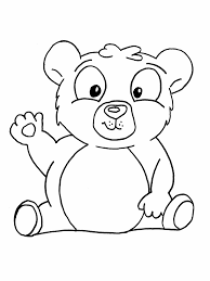 Free Bear Printable Coloring Pages For Preschool