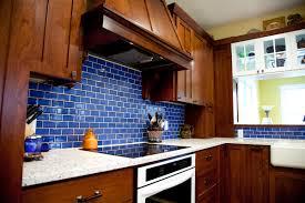 bold blue subway tile kitchen mercury mosaics