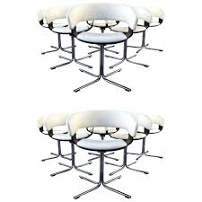 Chrome Chairs Scoop Chair Low Back Leg Dining Retro For Sale ...