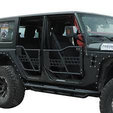 07 16 Jeep Wrangler JK 4DR Tubular Safari Doors w Mirror