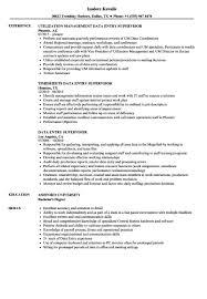 Data Entry Resume Sample Supervisor Samples Velvet Jobs