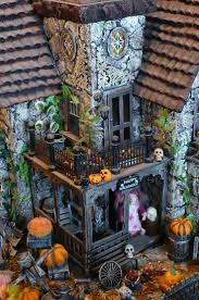 Lemax Halloween Village Displays by 114 Best Haunted Miniature Houses Images On Pinterest Haunted