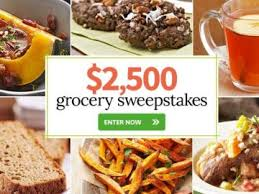 Homes & Garden $2 500 Grocery Sweepstakes