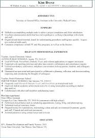 Resumes For Office Assistants Secretary Resume Objective Examples Of Healthcare Assistant