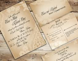 Cheap Rustic Wedding Invitations With Vintage Style