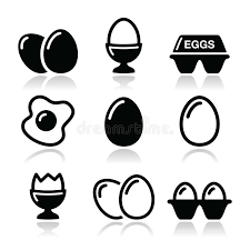 Download Egg Fried Egg Egg Box Icons Set Stock Image Image
