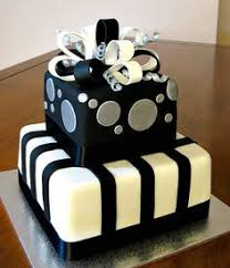 18th birthday cake for men gold black and white Google Search