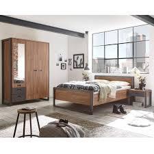 komplettset schlafzimmer dallas 61 im industrial design dekor stirling oak nb und absetzungen anthrazit b h t ca 304x202x60 209cm