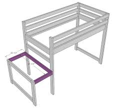 Woodworking Plans For Platform Bed With Storage by Ana White Camp Loft Bed With Stair Junior Height Diy Projects