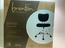 Black Brenton Studio Jancy Task Office Chrome Based Chair Amazonbasics Lowback Computer Task Office Desk Chair With Swivel Casters Black Fniture Best Chairs For Back Pain High Wrought Studio Quinton Modern Credenza Desk Reviews Low Armless Ribbed White Depot Flyer 03172019 032019 Weeklyadsus Unboxing And Assembling Mainstays Midblack Brenton Bellanca Guest In Contemporary Transparent Available 7 Colors Depot Inc Unveils Exclusive Seating