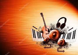 Music Poster Background Stock Photo