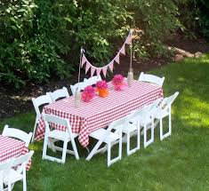 Birthday Party Ideas Gingham Tablecloth Backyard Bbq