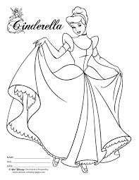 Disney Princess Coloring Pages Cinderella 9 Color Printable