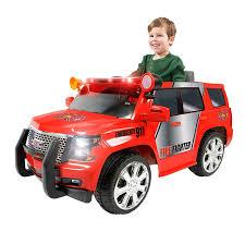 Amazon.com: Rollplay 6 Volt GMC Yukon Denali Fire Rescue Ride On Toy ...