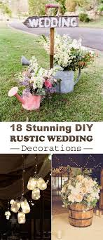 Best 25 Rustic Diy Wedding Decor Ideas On Pinterest