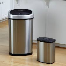 Under Cabinet Trash Can With Lid by Nine Stars Dzt 50 9 Touchless Stainless Steel 13 2 Gallon Trash