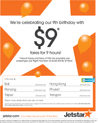 Jetstar | 9th Birthday Anniversary Sale : $9 Fare (today ... 6pm Coupon Code Cyber Monday Brand Discount Lemoyne All The Deals Bali Athi Books Coupons For Galleria Ice Skating Coupon November 2018 Clif Bars Printable Coupons Jetstar 9th Birthday Anniversary Sale 9 Fare Today 6pmcom 2019 Www6pmcom Christmas Town Dr Martens Happy Nails Doylestown Pa Codes December Recent Discounts Calamo Code Discount Www Ebay Com Electronics I Have A