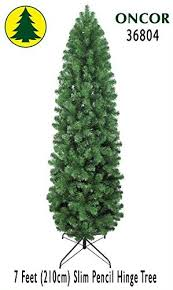 7ft Slim Christmas Tree by Amazon Com 7ft Eco Friendly Oncor Slim Pencil Pine Christmas