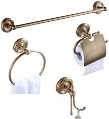 casewind toilettenpapierhalter antik messing badezimmer accessoires handtuchhalter set handtuchhaken handtuchring retro 4er set wandmontage