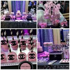 Chanel Themed Sweet 16 Party Table My Sweet 16 Chanel Birthday