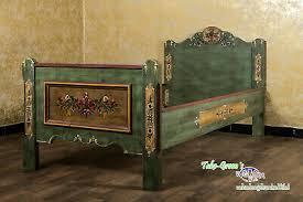 voglauer anno 1800 green single bed 90x200 cm cottage