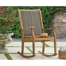 Member's Mark Teak Wicker Rocking Chair