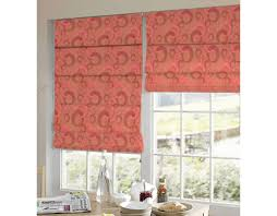 Geometric Pattern Window Curtains by Online Presto Bazaar Red Colour Geometrical Jacquard Window Blind