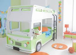 bus shaped bunk bed for kids room