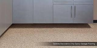 Decorative Chip Epoxy Garage Flooring Sedona
