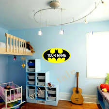 Boy Name Wall Decals Personalized Batman Loge Vinyl Sticker Monogram