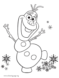 Olaf Excited With Birthday Party Coloring Page