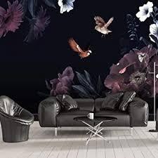 wandbild fototapete poster schwarzer blumenkolibri 400x280cm