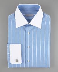 stefano ricci striped dress shirt light blue in blue for men lyst