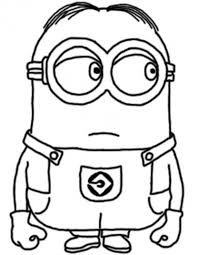Dave The Minion Despicable Me Coloring Pages Cartoon